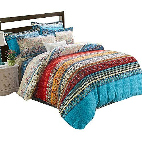 Alicemall 3D Bettwäscheset 4 Teilig Bettwäsche 230x260cm Bettbezug 250x280cm Blatt 48x74cm Kissenbezüge Zwei