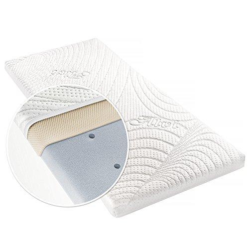 Alvi Matratze für Beistellbett & Wiege - TENCEL® & Dry - 90 x 40 cm / Funktionsbezug mit Nässeschutz / vertikale Luftkanäle / 3D-Luftpolster-Auflage / allergikergeeignet / schadstoffgeprüft