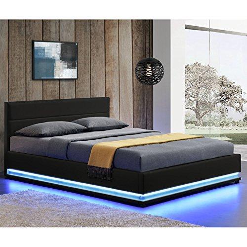 ArtLife Polsterbett Toulouse mit Rundum LED und Bettkasten in 2 Größen und 3 Farben