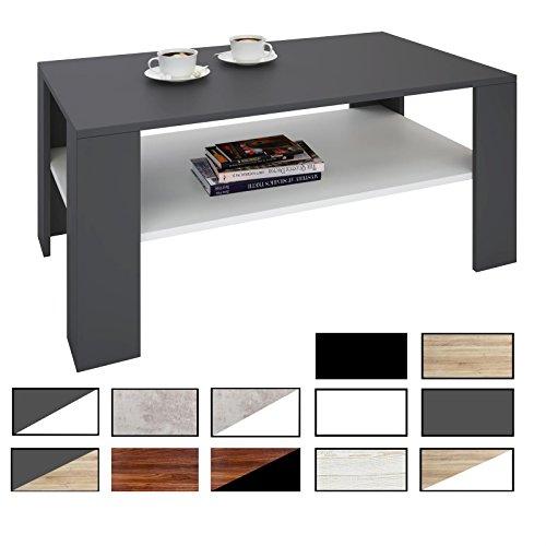CARO-Möbel Couchtisch ANIMO in 16 Farben Wohnzimmertisch Fernsehtisch mit Ablage, 100 x 60 cm