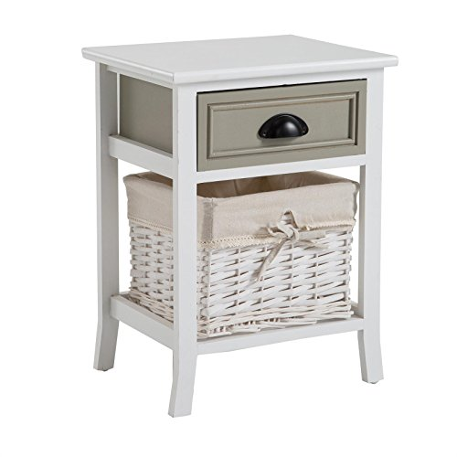 caro m bel nachttisch nachtschrank nachtkommode toscana in wei shabby chic vintage lookl mit. Black Bedroom Furniture Sets. Home Design Ideas