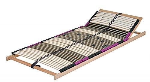 DaMi Premium Kopf 7 Zonen Lattenrost verstellbar Buche mit 6 Fach Härteverstellung Wohn- und Schlafsysteme I Bettenrost Matratzenrost Federholzrahmen Holzlattenrost Lattenrahmen