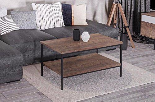Endo Couchtisch Aspen Industrial Loft Tisch Metall 100x60cm Metallgestell