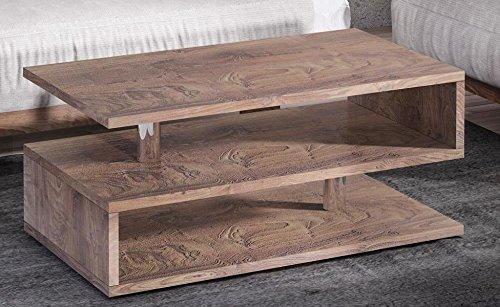 Endo Couchtisch Katania Wohnzimmertisch 100x55cm Modern Tisch mit Ablage 100cm