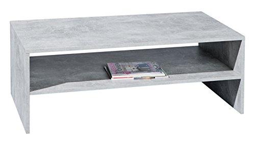 Inter Link 19603200 Couchtisch, melaminharzbeschichtete Flachpressplatte, betondekor, 115 x 60 x 41 cm