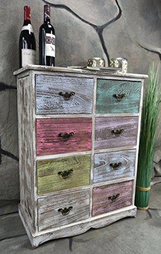 Livitat® Kommode Schrank mit Schubladen Landhaus Shabby Chic Vintage Weiß