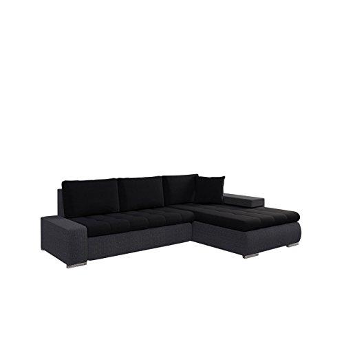 Mirjan24  Elegante Sofa Orkan Mini mit Schlaffunktion und Bettfunktion, Eckcouch Ecksofa mit Bettkasten, Couch L-Sofa Große Farbauswahl, Qualität