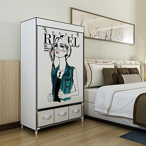 QFF Einfache Kleiderschrank Tuch Kleiderschränke Verstärkte Bold Incorporated Schrank Schublade Montage