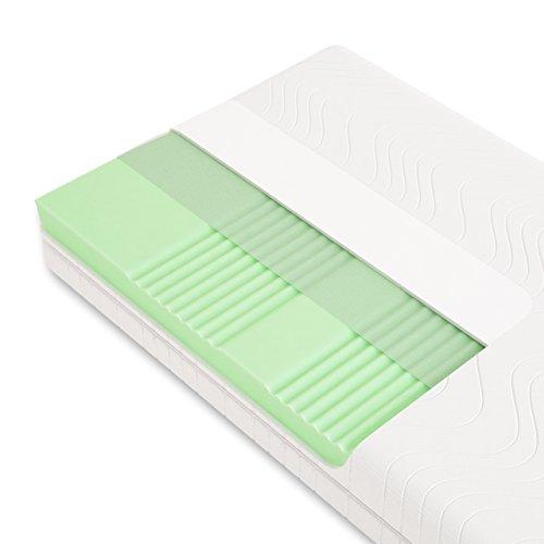 Schlummerparadies Hochwertige Matratze 7-Zonen HR-Kaltschaummatratze ca. 19cm Gesamthöhe, RG40, geprüfter Kern + Bezug (TÜV Rheinland, LGA) - Optima Klassik