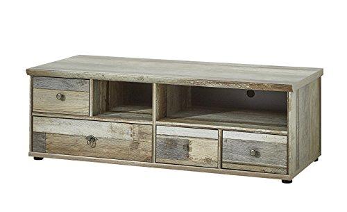 Stella Trading Fernsehschrank Driftwood Fernsehtisch Longboard, Holz