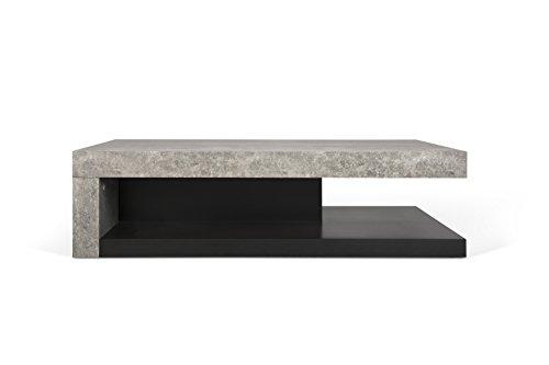 Temahome 9000.625039 Detroit Couchtisch Wabekonstruktion, 110 x 65 x 29 cm, betonfarbig