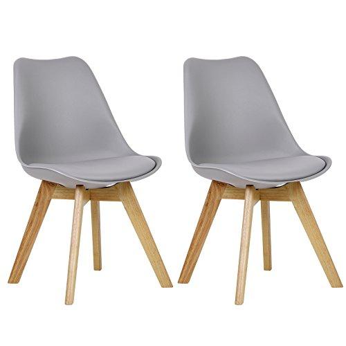 WOLTU 2 x Esszimmerstühle 2er Set Esszimmerstuhl Design Stuhl Küchenstuhl Holz, 879