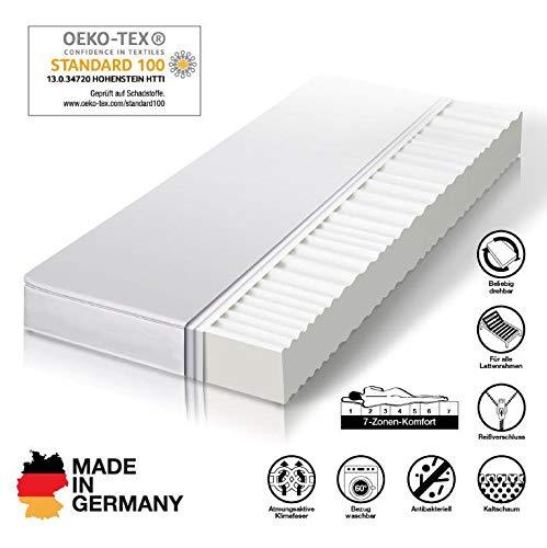 cpt hydrovital Spa12 Comfort Kaltschaummatratze - 7 Zonen wählbar - Härtegrad H2 & H3 - Made IN Germany - 10 Jahre GARANTIE - ÖkoTex - Alle Größen