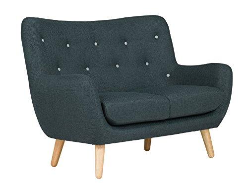 massivum Sofa Retro 130x95x80 cm Flachgewebe-Stoff blau