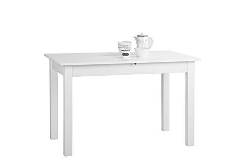 001285 Coburg Weiß Nb. 120 x 70 cm Tisch Esszimmertisch Küchentisch ausziehba...
