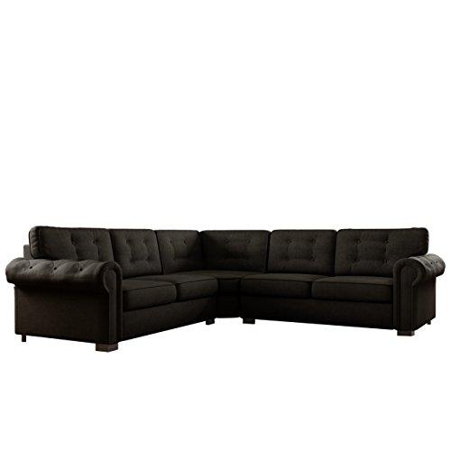 Ecksofa Chesterfield Mini, Antik Look Couchgarnitur, 5-Sitzer freistehendes Polsterecke Sofa, große Farbauswahl, Wohnlandschaft Couch (Enzo 165)