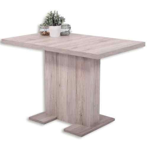 Esstisch Säulentisch - BUGSY - Ausziehtisch Esszimmertisch Tisch ausziehbar in Sandeiche