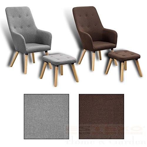 Estexo Home and Garden Fernsehsessel + Hocker TV Sessel Lounge Relaxsessel Polstersessel Lesesessel