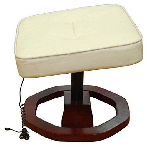 Festnight Massagesessel mit Heizfunktion Relaxsessel mit Hocker Massage-Stuhl Fernsehsessel Cremeweiß