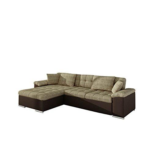 Großes Design Ecksofa Diana, Eckcouch mit Bettkasten und Schlaffunktion, Elegante Couch, Polsterecke Sofa, Farbauswahl, Schlafsofa, Bettsofa vom Hersteller (Ecksofa Links, Soft 066 + Lawa 02)
