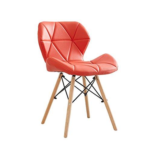 JF Stuhl/Retro Stuhl/Esszimmerstuhl Lounge Sessel/Holz und Leder Material 50cm * 38cm * 73cm Mehrfarbig (Farbe : E)