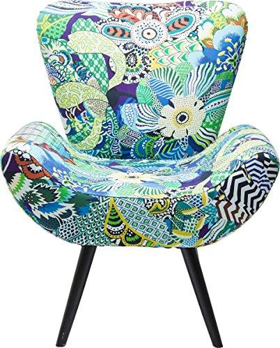 Kare Design Sessel Wings Madagaskar, TV Loungesessel mit buntem Muster, Relaxsessel, Armlehnsessel, (H/B/T) 83x72x70cm