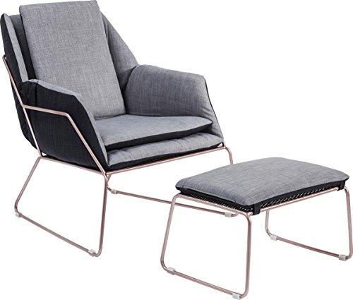 Kare Hocker Space Sessel, Polyester, Grau, 77 x 76 x 70 cm
