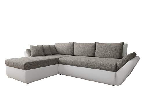 Mirjan24  Ecksofa Logo, Couchgarnitur, freistehendes Polsterecke L-Form Sofa, Wohnlandschaft Couch (D-511 + Bering 23, Seite: Links)