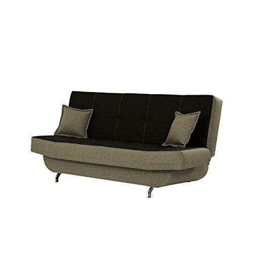Mirjan24  Schlafsofa Bono mit Bettkasten, 3 Sitzer Sofa, Couch mit Schlaffunktion, Bettsofa Schlafsofa Polstersofa Couchgarnitur (Lux 26 + Lux 13)