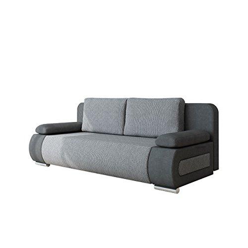 Mirjan24  Schlafsofa Emma, Sofa mit Bettkasten und Schlaffunktion, freistehendes Bettfofa, Couchgarnitur, Schlafcouch, Couch vom Hersteller (Alova 36 + Florida 01)