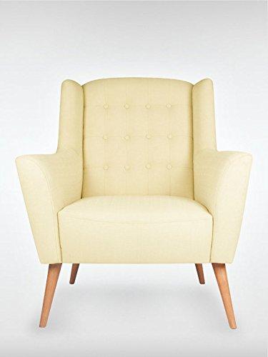 Retro Sessel Polstersessel Westhampton creme 83 x 95 x 73 cm roombird