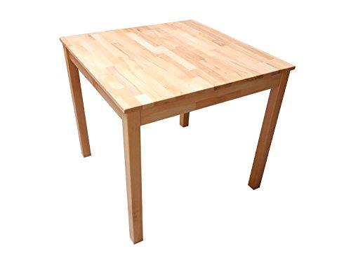 SAM Stilvoller Esszimmertisch aus Kernbuche, Massiv-Tisch mit Pflegeleichter Oberfläche, natürliche geölte Optik, Ideal Kombinierbar mit Anderen Möbeln, 140 x 80 cm [53262697]