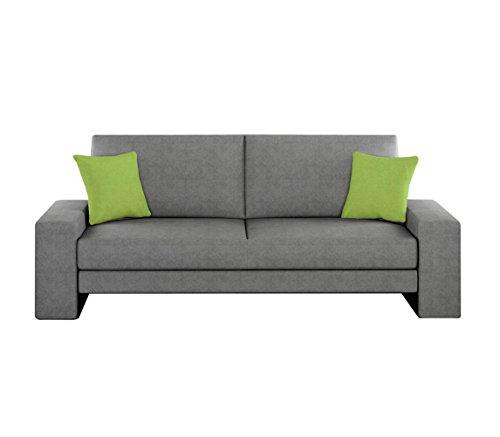 Schlafcouch Schlafsofa - Supra Moderne Sofa mit Schlaffunktion, Lounge Couch, Bettsofa, Materialmix, Couch vom Hersteller, Couchgarnitur (Ibiza 28 + Ibiza 25)