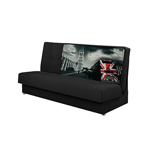 Schlafsofa Image II, Bettsofa, Schlafcouch, Sofa mit Bettkasten und Schlaffunktion, Muster Blumen Broadway F1, Couch, Wohnlandschaft (Alova 48 + Z21)