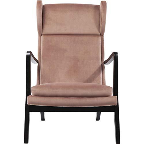 Sessel Relax Silence Samt rosa Kare Design