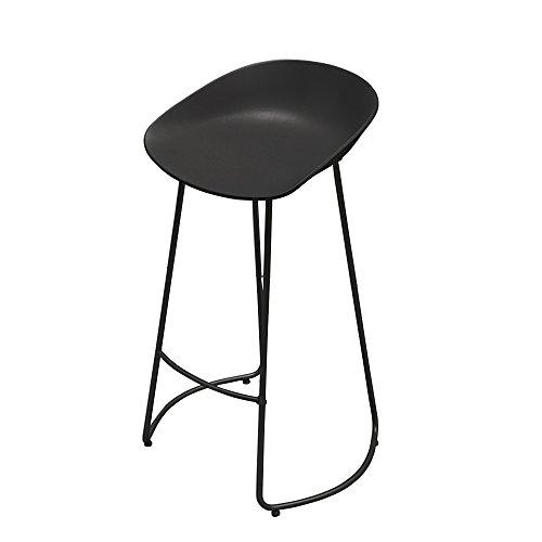 Stools Europäische Schmiedeeisen Barhocker Kreative Einfache Mode Barhocker Freizeit Hocker Café Fronthocker, Zwei Farben, Drei Größen (Farbe : Schwarz, Größe : 65cm)