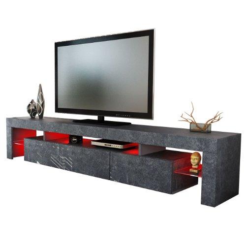 TV Board Lowboard Lima XL Rock in Schieferoptik