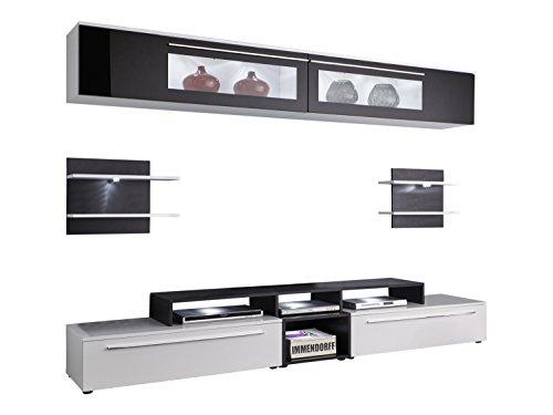 trendteam smart living TV Möbel Wohnwand, weiß, 240 x 170 x 42 cm