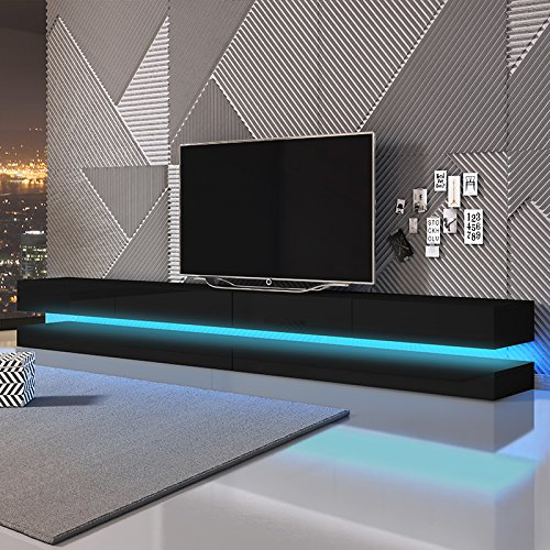 Aviator Double – TV Lowboard / TV Schrank / Hängeboard (280 cm, mit LEDs )
