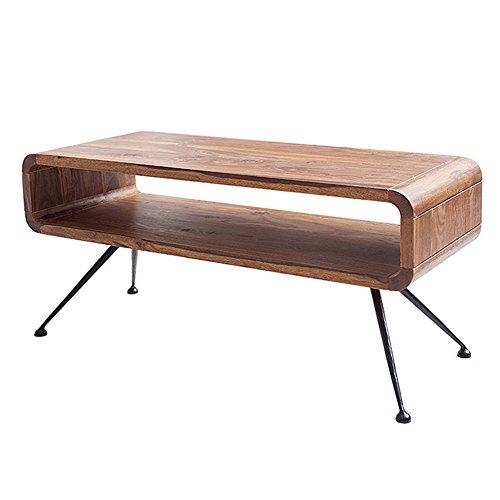 Couchtisch Beistelltisch Wohnzimmertisch OLLON 100x40cm TV-Board mit Ablagefach Sheesham stone