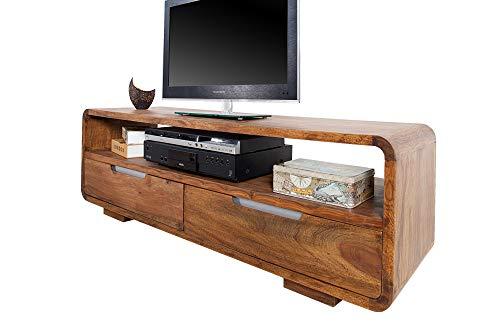 DuNord Design TV-Board Sheesham Natur Massiv Sideboard Lowboard 130 cm Massivholz Natur PANAJI TV Möbel