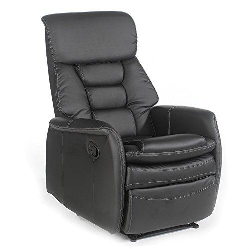 IDIMEX Fernsehsessel Relaxsessel XXL Sessel Sophie mechanisch regelbare Liegefunktion in Kunstleder in schwarz