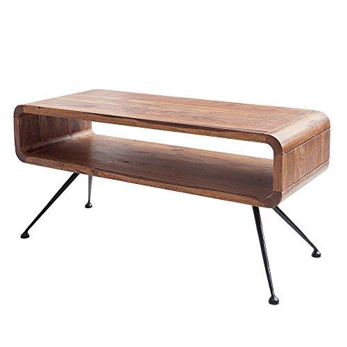 Invicta Interior Design Couchtisch Alpha 100 cm Sheesham Holztisch Wohnzimmertisch Tisch Retro Massivholz