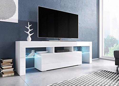 Jadella TV Board 'Soro' Hochglanz Lowboard Cube Matt HiFi Fernseherschrank mit LED