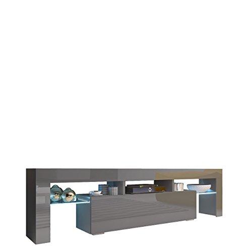 Mirjan24  TV Board Lowboard Toro 158, TV Lowboard mit Grifflose Öffnen, Unterschrank, Fernsehschrank, Sideboard Mediaboard, Mediaboard