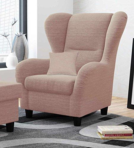 Ohrensessel in rosa im Landhausstil | Der perfekte Sessel für entspannte, lange Fernseh- und Leseabende. Abschalten und genießen!