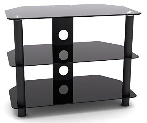 RICOO Fernsehtisch TV Rack schwarz in diversen Größen