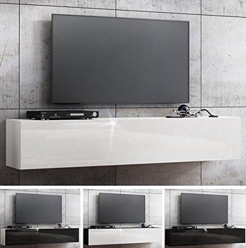 RODRIGO TV Lowboard Hängeboard Hochglanz Board Schrank Tisch 160cm