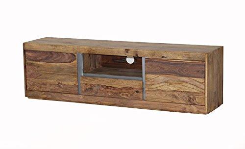 SAM Fernsehtisch Senso TV-Board III aus Sheesham Holz mit Türen und Schubkästen geölte Oberfläche
