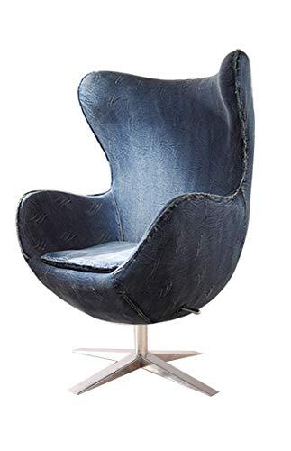 SAM Ohrensessel verstellbar, mehrere Farben, Stoff, 4620, Armlehnstuhl 360° drehbar, Edelstahlfuß, abnehmbares Sitzkissen